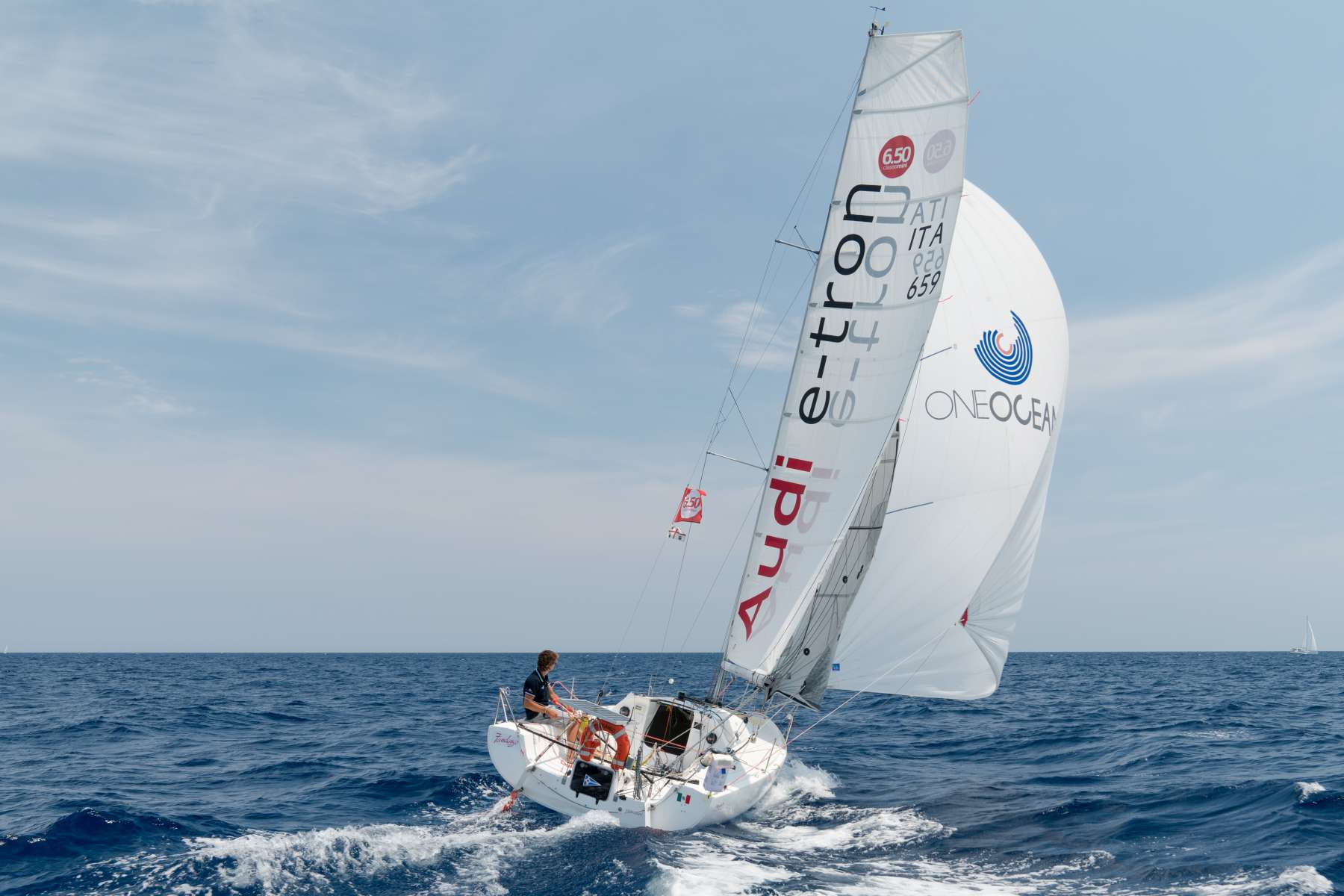 YCCS Sporting Member and OOF representative Daniele Nanni at Mini Transat 2019 on ITA 659 Audi E-Tron - NEWS - Yacht Club Costa Smeralda