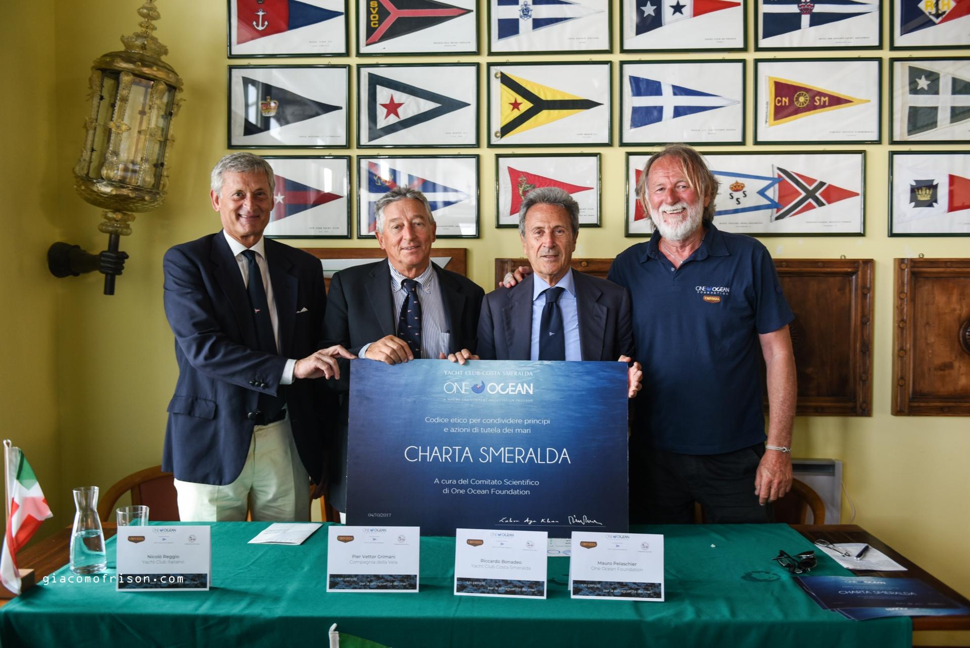 Il presidente della Federvela accoglie Mauro Pelaschier, ambasciatore della One Ocean Foundation - NEWS - Yacht Club Costa Smeralda
