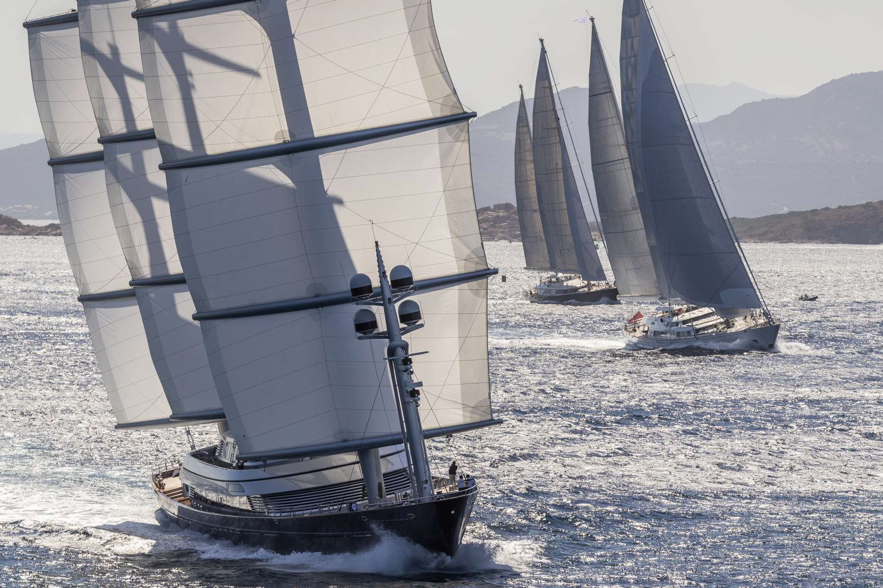 Maltese Falcon and Silencio triumph in seventh edition of Perini Navi Cup - NEWS - Yacht Club Costa Smeralda