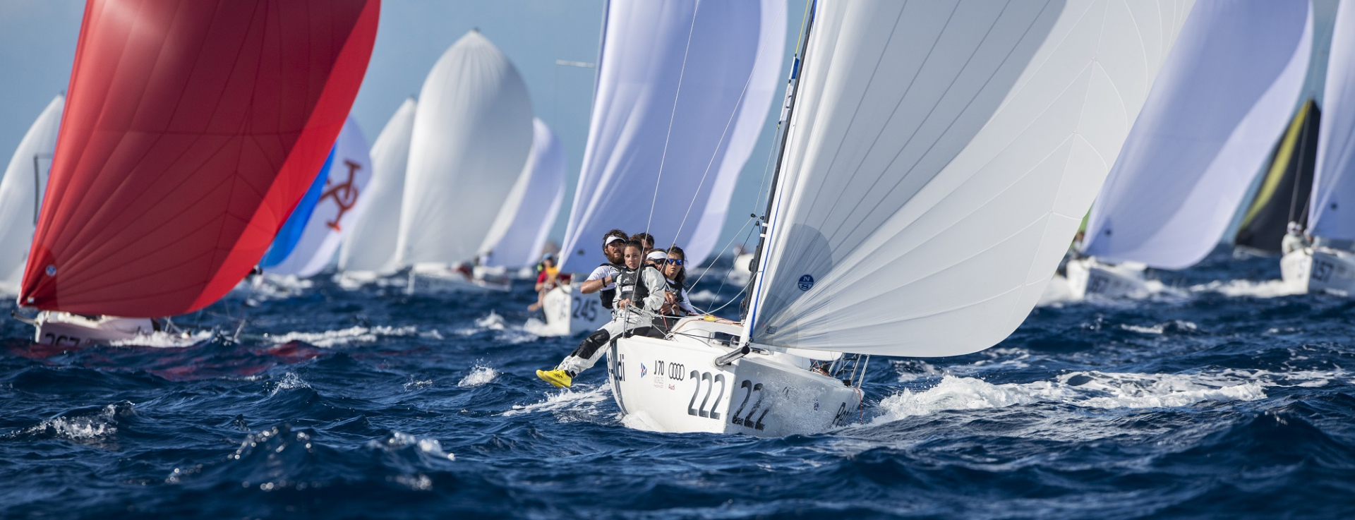 Audi J/70 World Championship: A Magnificent Start - NEWS - Yacht Club Costa Smeralda