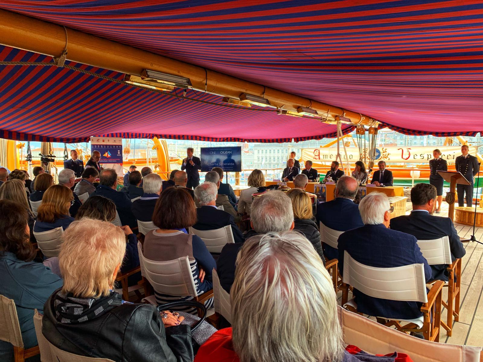 Presentata su Nave Vespucci la Settimana Velica Internazionale 2020 - NEWS - Yacht Club Costa Smeralda