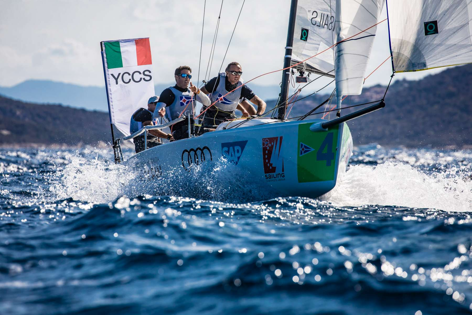 Intense penultimate day at Audi SAILING Champions League Final - NEWS - Yacht Club Costa Smeralda