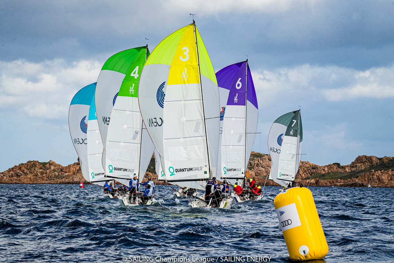 Audi SAILING Champions League Final, two flights are completed in the first day of racing - NEWS - Yacht Club Costa Smeralda